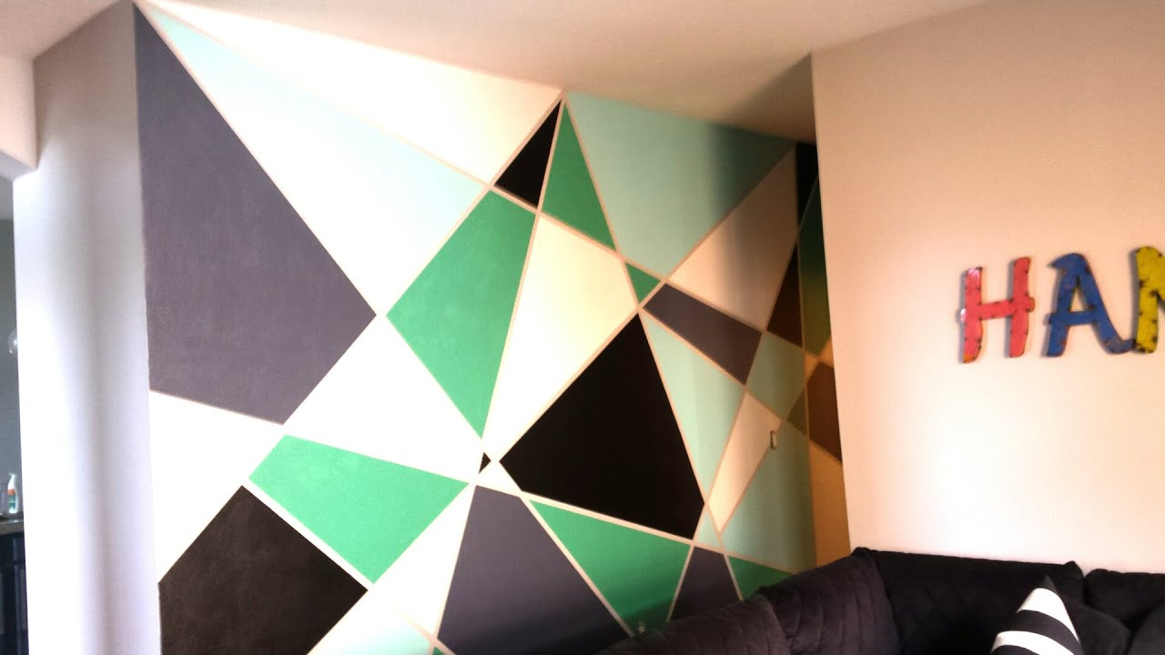 Wall Paint Geometric Wall Paint Diy  Youtube