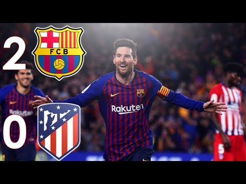 Barcelona Vs Atletico Madrid 2-0 With Ray Hudson Commentary │ 2019 HD