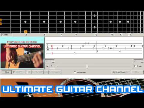 Guitar Solo Tab Every Rose Has Its Thorn Poison Youtube
