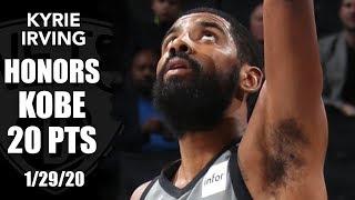 Kyrie Irving honors Kobe in emotional return for Nets vs. Pistons | 2019-20 NBA Highlights