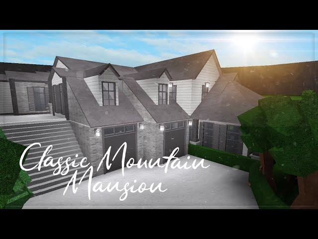 Roblox | Welcome to Bloxburg | Classic Mountain Mansion | Speedbuild