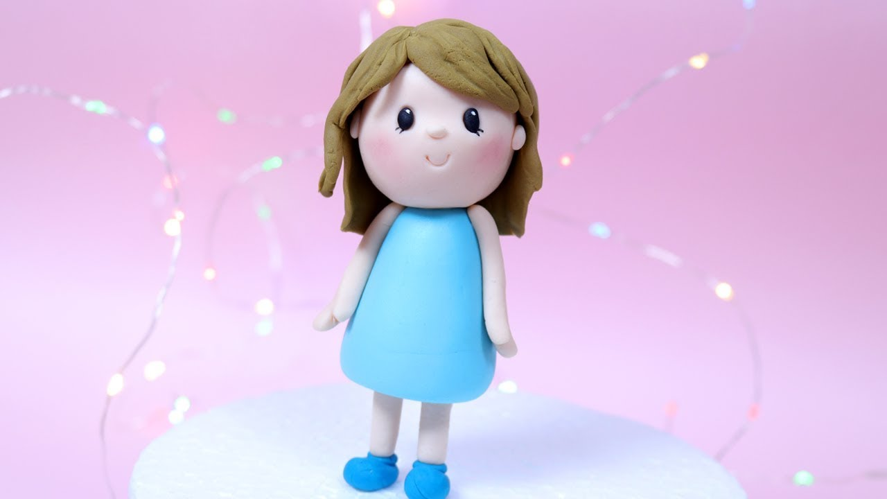 Simple Fondant Girl Cake Topper Tutorial How To Make A