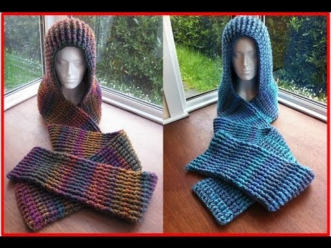 Free Knit Scoodie Pattern : Tutorial: How To Make A Chunky Scoodie - YouTube