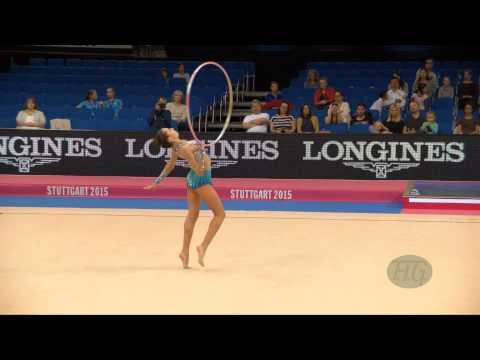 Natela BOLATAEVA (GEO) 2015 Rhythmic Worlds Stuttgart - Qualifications Hoop