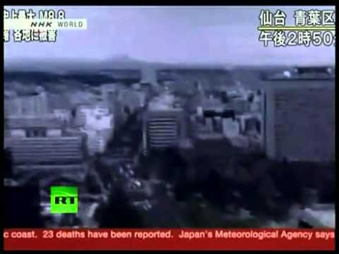 japan Tsunami caused by a record 8.9 earthquake caught on camera! (3-11-2011).flv
