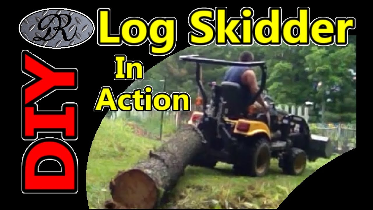 ★diy Homemade Log Skidder Winch On 4x4 Tractor Getting