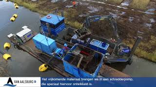 Plaggen pompen en shredderen Van Aalsburg BV Nieuwkoopse plassen 2018