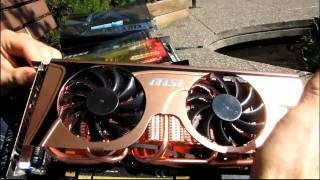 MSI NVIDIA GeForce GTX 465 COPPER Twin Frozr Golden Edition Unboxing & First Look Linus Tech Tips
