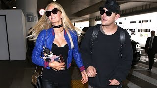 Paris Hilton And Chris Zylka Head To Cleveland For The NBA Finals