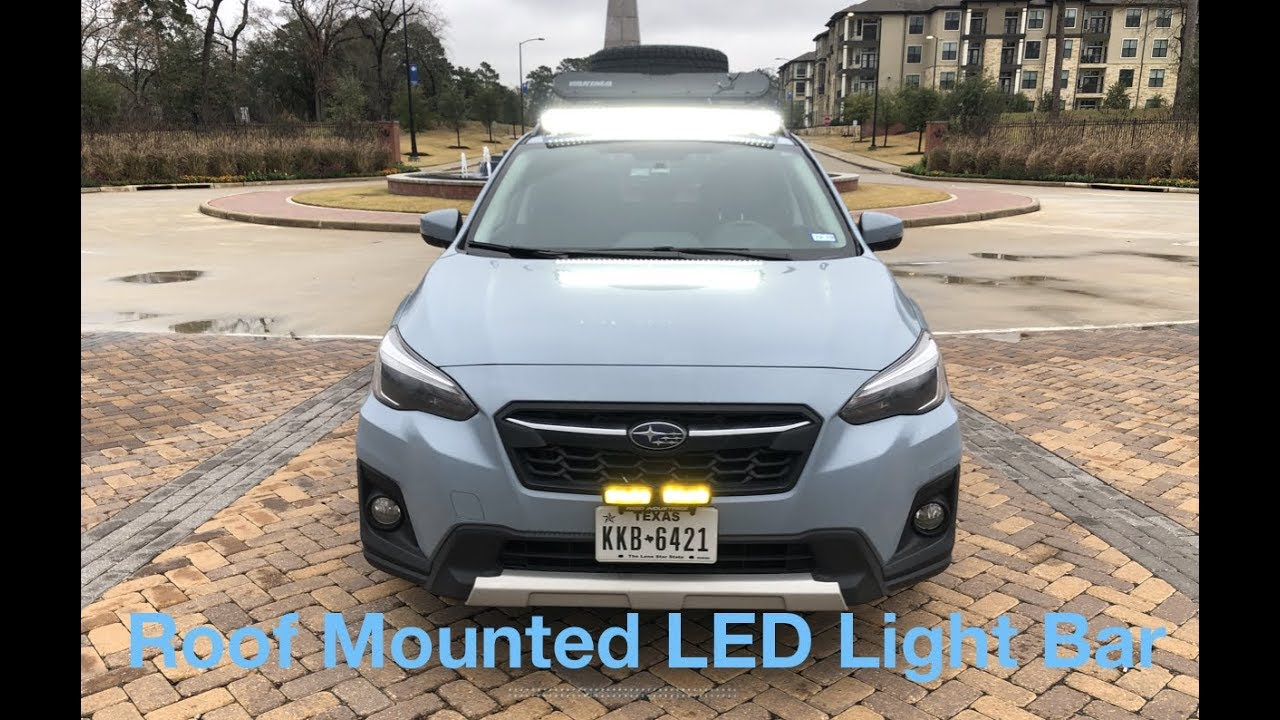 Roof Mounted LED Light Bar on 2nd GEN Crosstrek