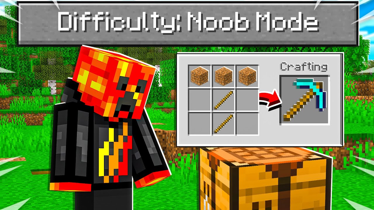"""So I Added a """"Noob Mode"""" difficulty to Minecraft..."""