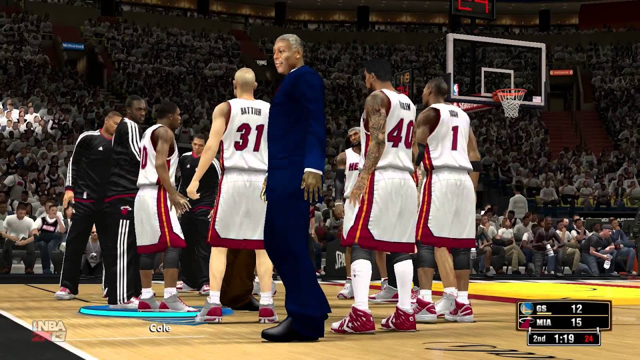 Miami heat roster nba - Nba2k13 Gameplay With 2014 Rosters Miami Heat Vs Golden State Warriors Game 1 Youtube