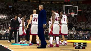 nba2k13 gameplay with 2014 rosters, miami heat vs golden state warriors, game 1