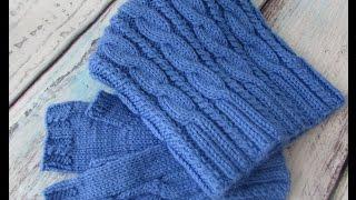 Вязание. Шапка бини и митенки. Готовый комплект.