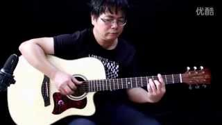 Venice guitar PT-34C Lake Baikal play by A Tao