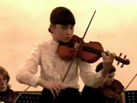 Nana Gogolashvili. Violinekonzert Friedrich Seitz op13 G-Dur [10 Jahr]