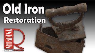 Old iron [Restoration] . Jak opravit starou žehličku na uhlí.