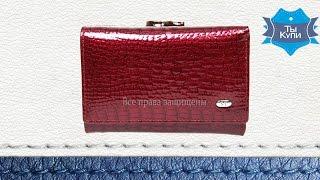 Кошелек кожаный бордовый женский от Sergio Torretti купить в Украине. Обзор