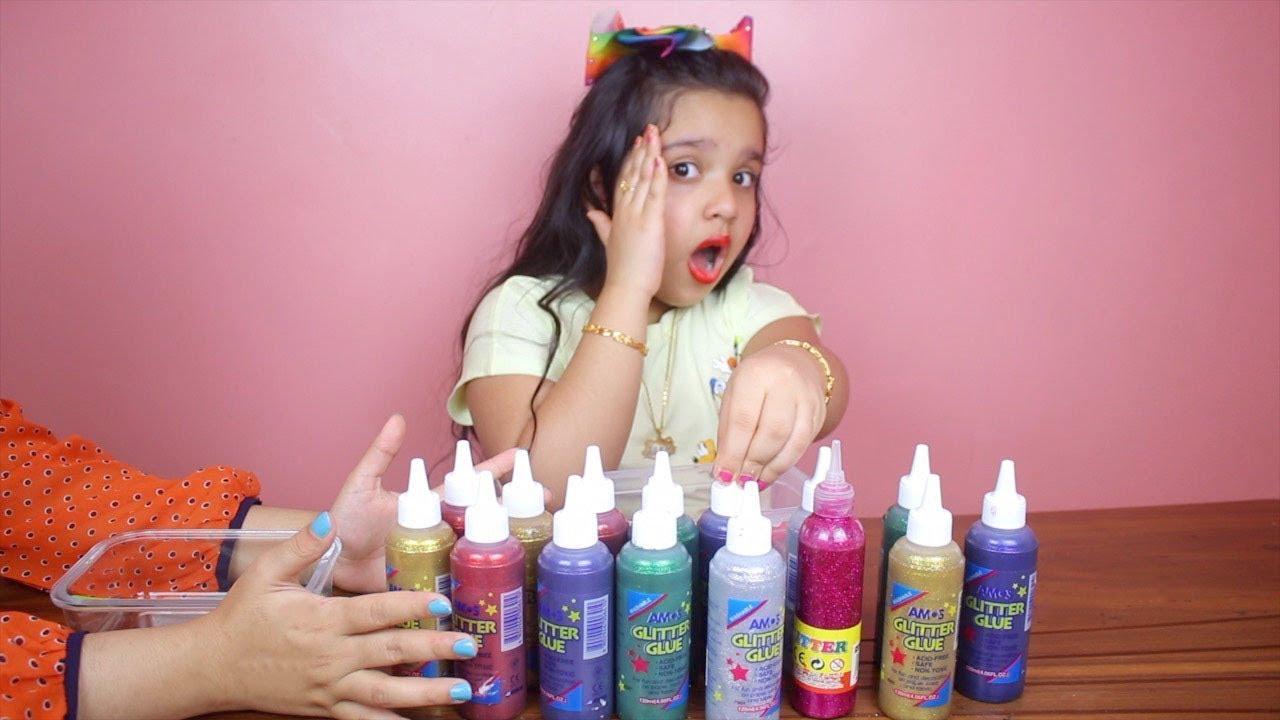 تحدي تلوين السلايم ب 3 ألوان طلع احلى سلايم 3colors Of Glue Slime Challenge Youtube