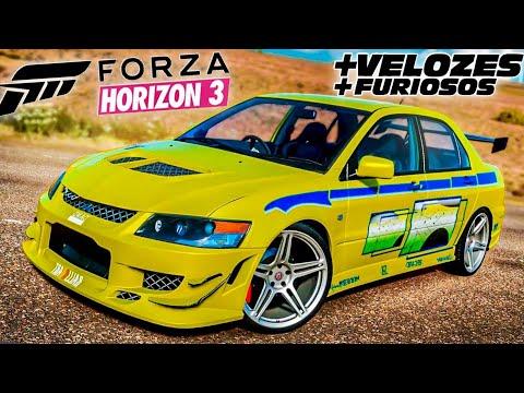 O EXTRAORDINÁRIO LANCER EVO DO BRIAN FAST & FURIOUS | FORZA HORIZON 3!! 6