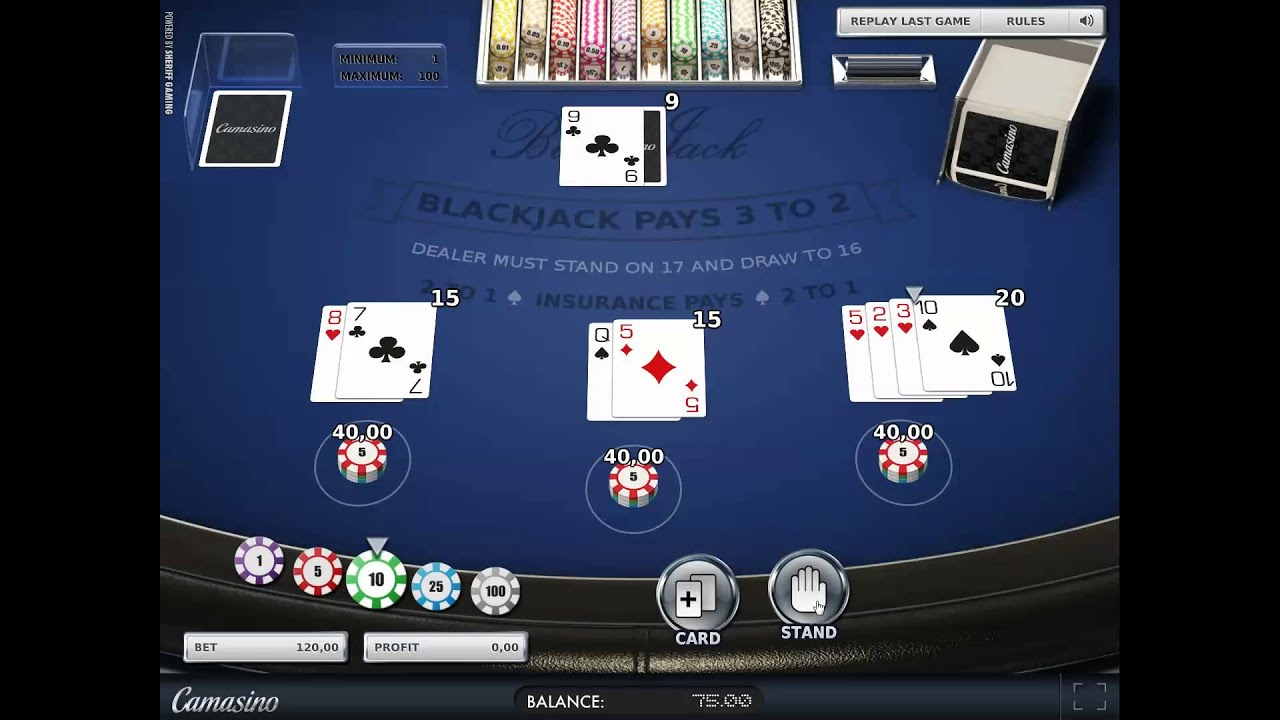 how to win online casino blackjack