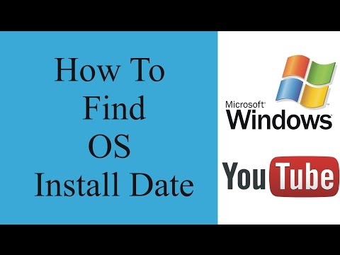 How to check windows install date | How to Determine Your Computer's Windows Installation Date