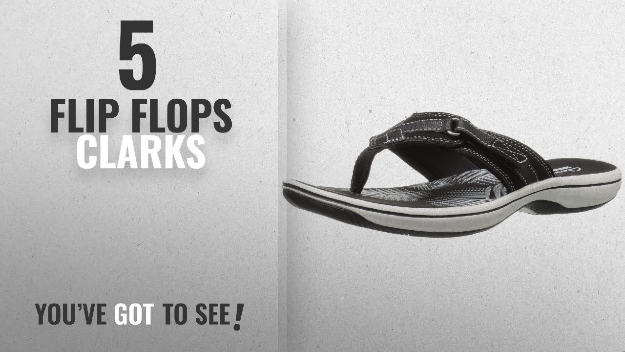 388d0fb2c228 Top 5 Flip Flops Clarks  2018   CLARKS Women s Breeze Sea Flip Flop ...