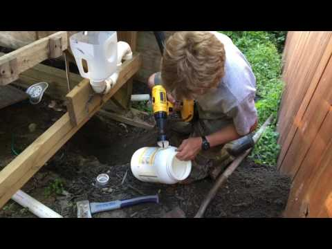 DIY Toilet with a Mini Septic Tank
