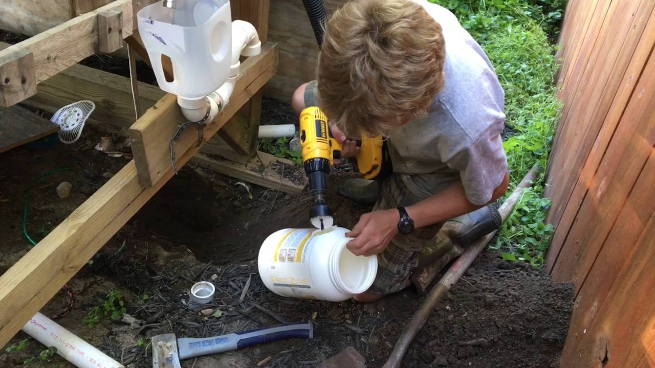 Diy Toilet With A Mini Septic Tank Youtube