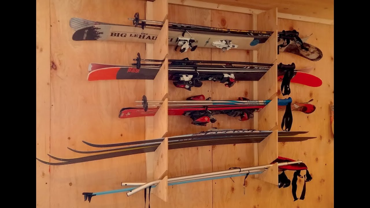 How To Make A Ski Rack Install Simple