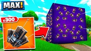 USING 300+ C4 ON THE MOVING PURPLE CUBE!