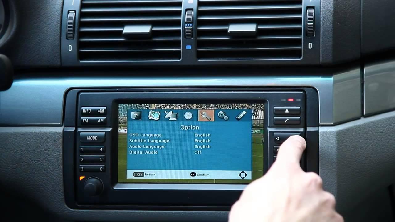 Custom Bmw Digital Tv Tuner Oem Headunit Control Youtube
