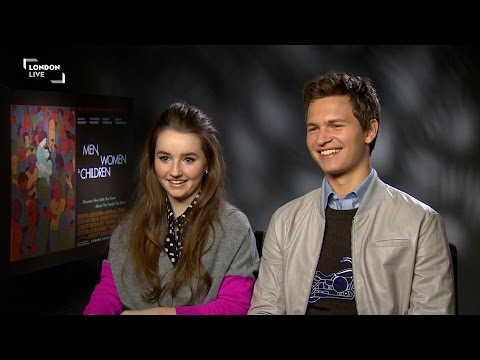 Ansel Elgort and costar Kaitlyn Dever discuss Men, Women and Children