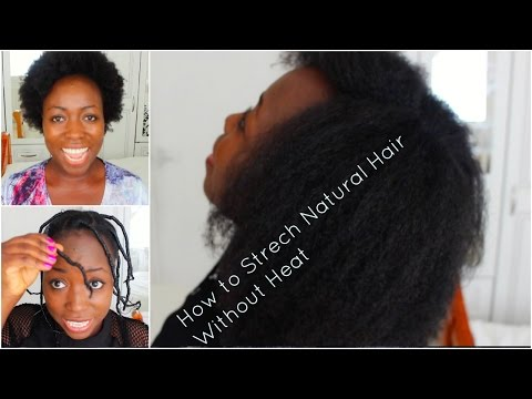 how can i style my hair without heat how to stretch hair without heat threading 7984