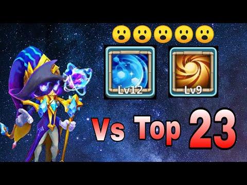 Cosmo   9/9 Sacred Light Vs Top-23 Hero   No Pet/Insingia/Warden   Castle Clash