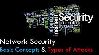 Network Security - Basic Concepts Definitions & Types of Attacks