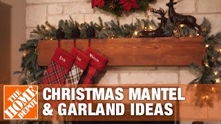 3 Ways to Style a Holiday Mantel | Christmas Garland Ideas