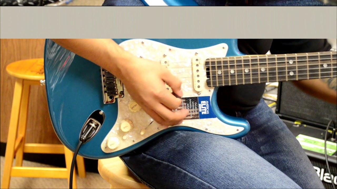 Fender ebony fretboard