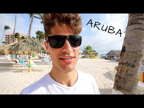 ARUBA Day 1 Travel Vlog! Fish Tacos by the water!