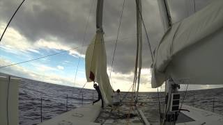 Newport-Nassau Passage on Slim Gunboat 6606