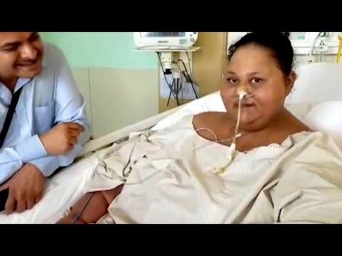 Dickste Frau der Welt speckt 250 Kilogramm ab