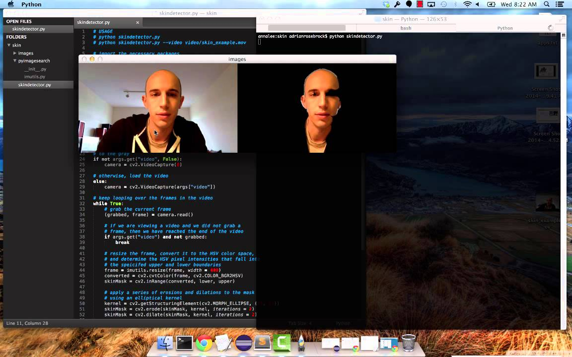 Tutorial: Skin Detection in Images and video with Python and OpenCV