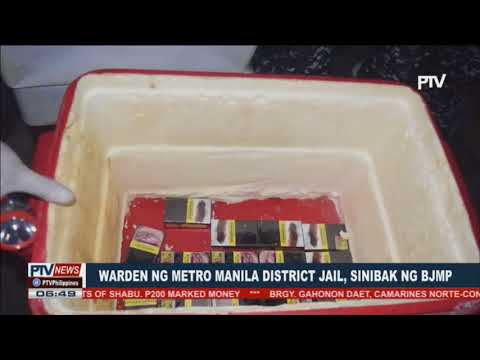Warden ng Metro Manila District Jail, sinibak ng BJMP