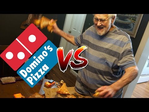 DOMINO'S PIZZA vs ANGRY GRANDPA!!