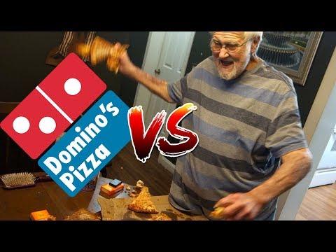 DOMINO'S PIZZA vs ANGRY GRANDPA!!