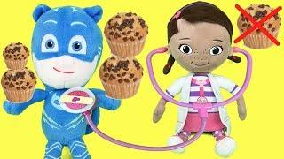Pj masks en español:visita a la doctora juguetes en su hospital.Nuevo video heroes en pijamas 2018
