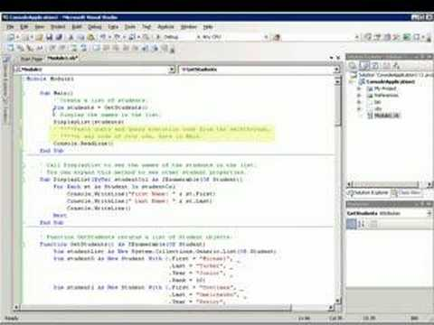 Writing LINQ Queries in Visual Basic