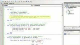 Basic introduction to using LINQ in Visual Basic.
