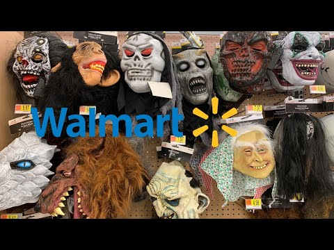 WALMART HALLOWEEN PROPS * MASKS MAKEUPS * KIDS DISNEY SUPERHERO COSTUMES | SHOP WITH ME FALL 2019