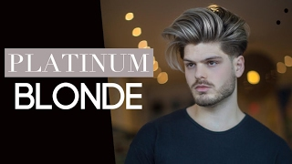 Men's Hair Highlights - Platinum Blonde Hair Colour and Cut Tutorial